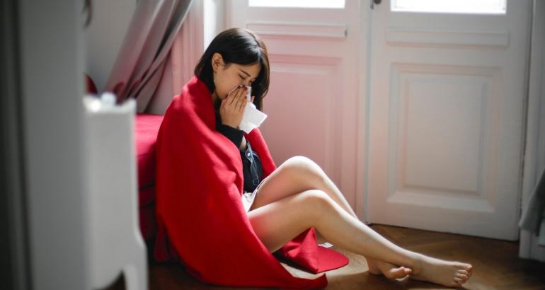 Как грипът засяга кожата